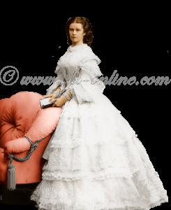Elisabeth in een witte jurk