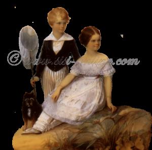 Elisabeth met haar broertje Karl-Theodor