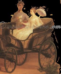 Elisabeth en Franz Joseph tijdens hun eerste ritje na de verloving