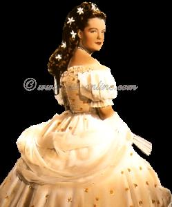 Romy Schneider als keizerin Elisabeth, bekend van de Sissi films