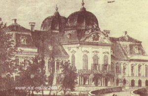 Vooraanzicht van Schloss Gödöllö