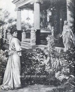 Sisi in de tuin van het Achilleion